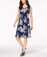 JM Collection Petite Printed A-line Dress, Created for Macy's