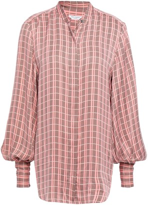 Equipment Checked Washed Silk-blend Shirt