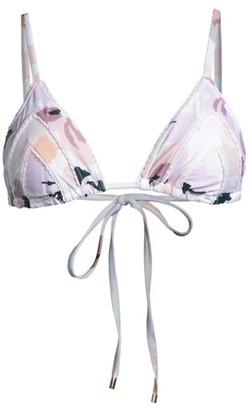 Peony Swimwear Soiree Floral Triangle String Bikini Top