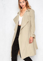 Missy Empire Drema Beige Light Trench Coat