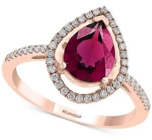 Effy Rhodolite Garnet (1-1/4 ct. t.w.) & Diamond (1/4 ct. t.w.) Ring in 14k Rose Gold