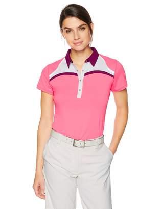 Cutter & Buck Annika Women's Drytec Moisture Wicking UPF 50+ Cap Sleeve Jersey Polo Shirt