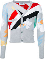 Thom Browne striped cardigan - men - Cashmere - 1