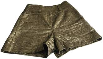 Sonia Rykiel Gold Cotton Shorts for Women