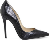 Office Betty croc-embossed leather courts