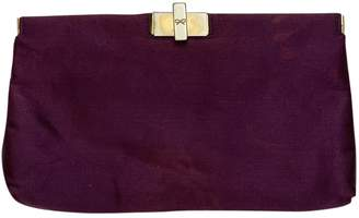 Anya Hindmarch Purple Silk Clutch bags