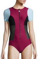 Next Malibu Mesh-Accented Performance One-Piece Swimsuit