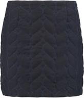 Maje Quilted felt mini skirt