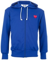 Comme des Garcons zip-up logo sweater