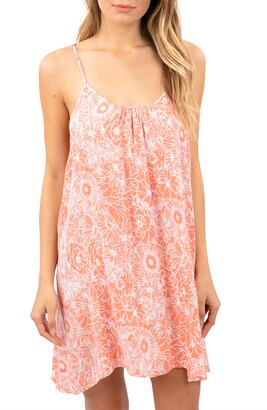 Rip Curl Golden Days Floral Print Cover Up Dress