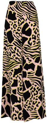 Adam Lippes Side Zip Print Crepe Pant