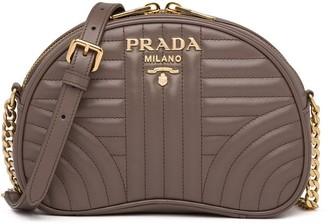 Prada Diagramme quilted shoulder bag