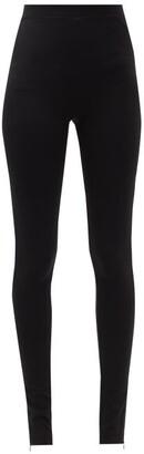 Totême Cork Slit-cuff Skinny Trousers - Black