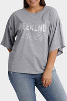 Tee with Fluted Sleeve