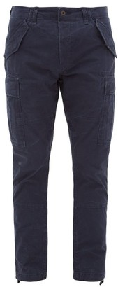 Polo Ralph Lauren Tapered-leg Slubbed-cotton Cargo Trousers - Mens - Navy