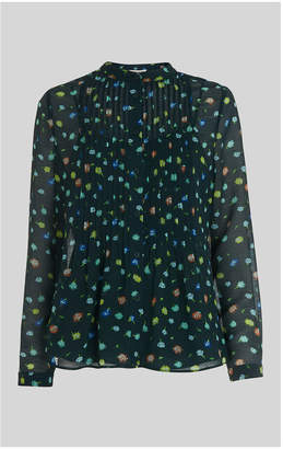 Whistles Scattered Floral Pintuck Shirt