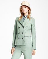 Brooks Brothers Double-Breasted Cotton-Blend Jacket