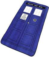 """Dr. μ Doctor Who Blanket - Large Dr. Who TARDIS Micro Raschel Throw - 50"""" x 89"""""""