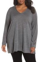 Eileen Fisher Plus Size Women's Merino Wool Tunic Sweater