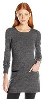Amy Byer A. Byer Juniors Long Sleeve Scoop Neck Sweater with Front Pockets