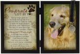 Grandparent Gift Co. The The Grandparent Gift Paw Prints Pet Memorial Frame W/ Tag Holder