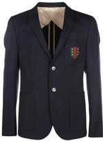 Gucci Abbiglia 70s Stretch Twill Insigna Blazer