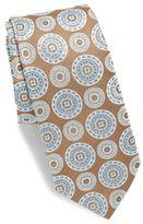 Ike Behar Medallion Print Silk Tie