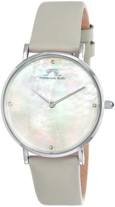 Porsamo Bleu Women's Luxury Mesh Interchangeable Band Diamond Watch, 36mm - 0.02 ctw