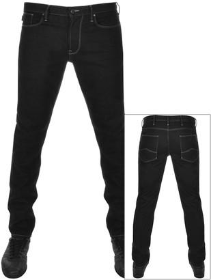Giorgio Armani Emporio J06 Slim Fit Jeans Black
