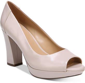 Naturalizer Amie Peep-Toe Pumps Women Shoes