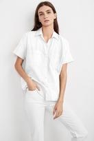 Stephanie Short Sleeve Cotton Button-Up Shirt
