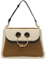 J.W.Anderson Tan Shearling Medium Pierce Bag