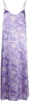 Ganni Rose Print Slip Dress
