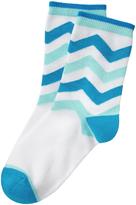 Gymboree Blue Chevron Socks