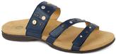 Navy Playa Leather Slide