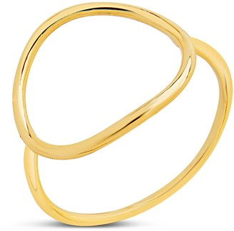 Sterling Forever 14K Gold Vermeil Open Circle Ring