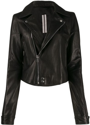 Rick Owens calf leather biker jacket