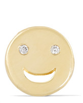 Alison Lou Happy 14-karat Gold Diamond Earring - one size