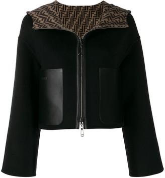 Fendi reversible FF motif hooded jacket