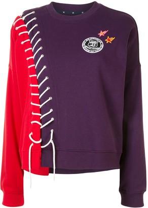 Bapy By *A Bathing Ape® Laced Colour-Block Sweatshirt