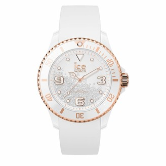 Ice Watch Ice-Watch - ICE crystal White rose-gold - Women's wristwatch with silicon strap - 017248 (Medium)