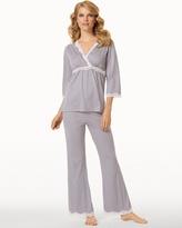 Soma Intimates Belabumbum Nursing Pajama Set Grey Dot