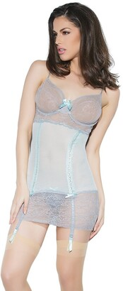 Coquette Women's Mesh and Lace Chemise