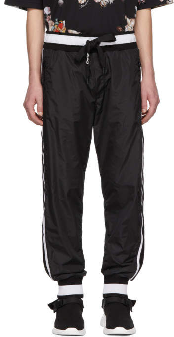 Dolce & Gabbana Black Jogging Lounge Pants
