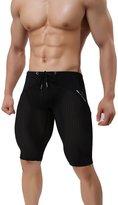 MECH-ENG Workout Fitness Tights Bodybuilding Swim Trunks Mesh Underwear Shorts Medium