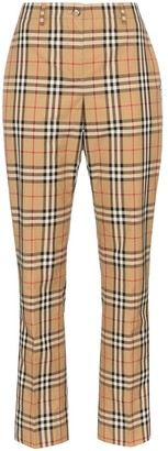 Burberry Dana Vintage Check straight-leg trousers