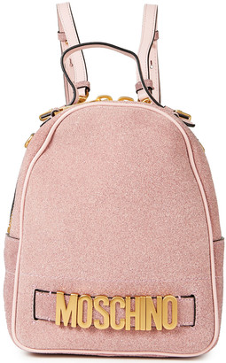 Moschino Glittered Leather Backpack