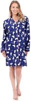 Patricia from Paris Women's Flannel Button Down Boyfriend Sleepshirt (XL, )