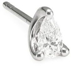 Anita Ko 18K White Gold & Pear Diamond Single Stud Earring