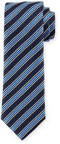 BOSS Rep-Striped Silk Tie, Navy